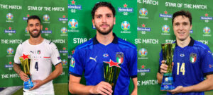 Star of Match Italy Bonucci Chiesa Spinazzola